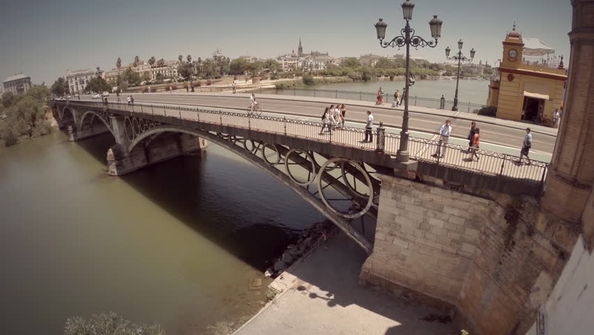 Triana Bridge in Seville Spain