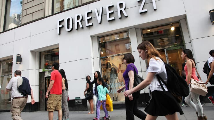 Forever 21 filed for bankruptcy, plans to shut down its stores in the US, Europe, and Asia