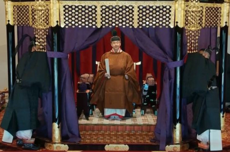 In the Early throne ritual, Japanese emperor Guarantees to Meet the duty