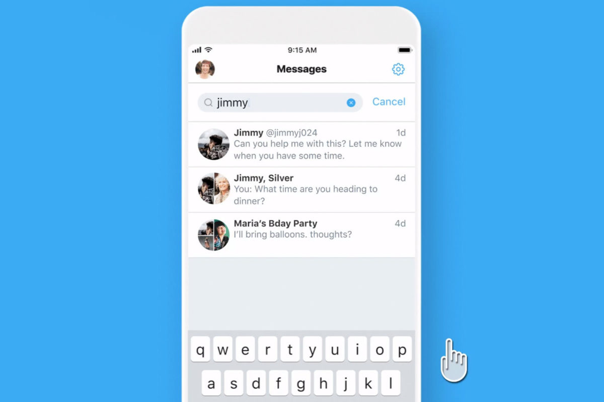Twitter introduces brand new search option for direct messages on IOS devices