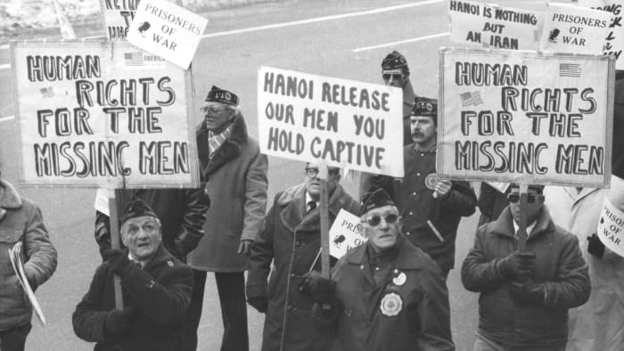 On January 24, 1982, over a hundred veterans, most of them from World War II as well as veterans of the Korean and Vietnam wars, marched to demand accounting for American veterans in Southeast Asia East.