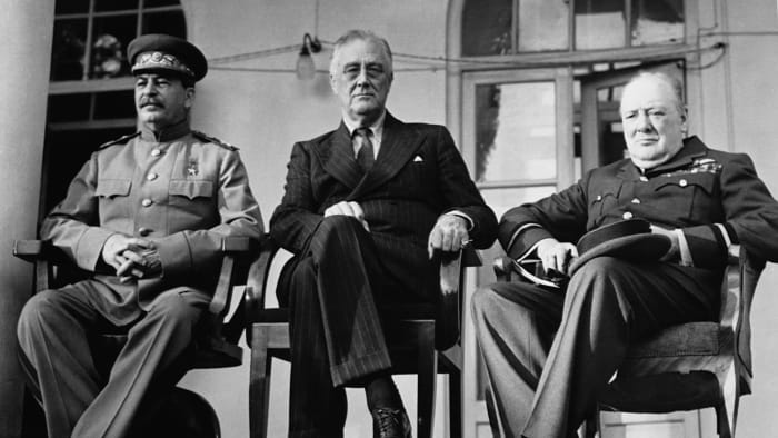 The Big Three, Joseph Stalin, Franklin D. Roosevelt, Winston Churchill