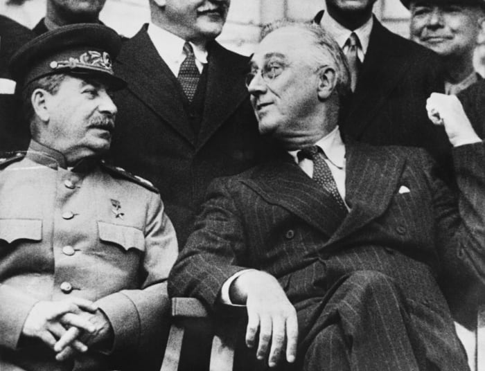 Stalin and Roosevelt, Tehran Conference