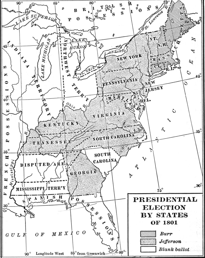 Election of 1800, Thomas Jefferson and Aaron Burr