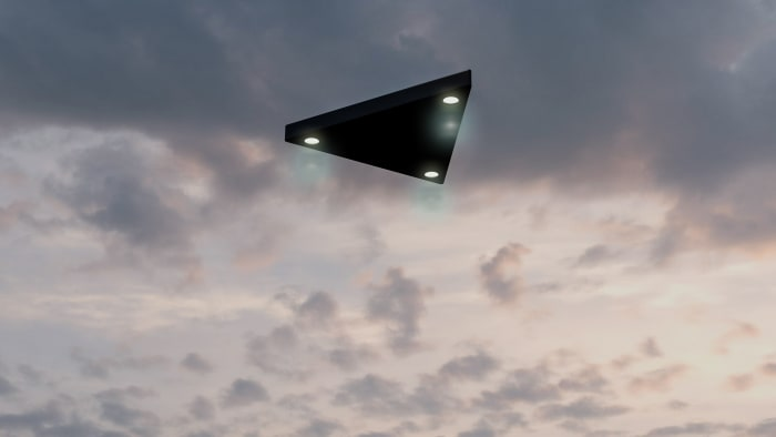 UFOs from the black triangle