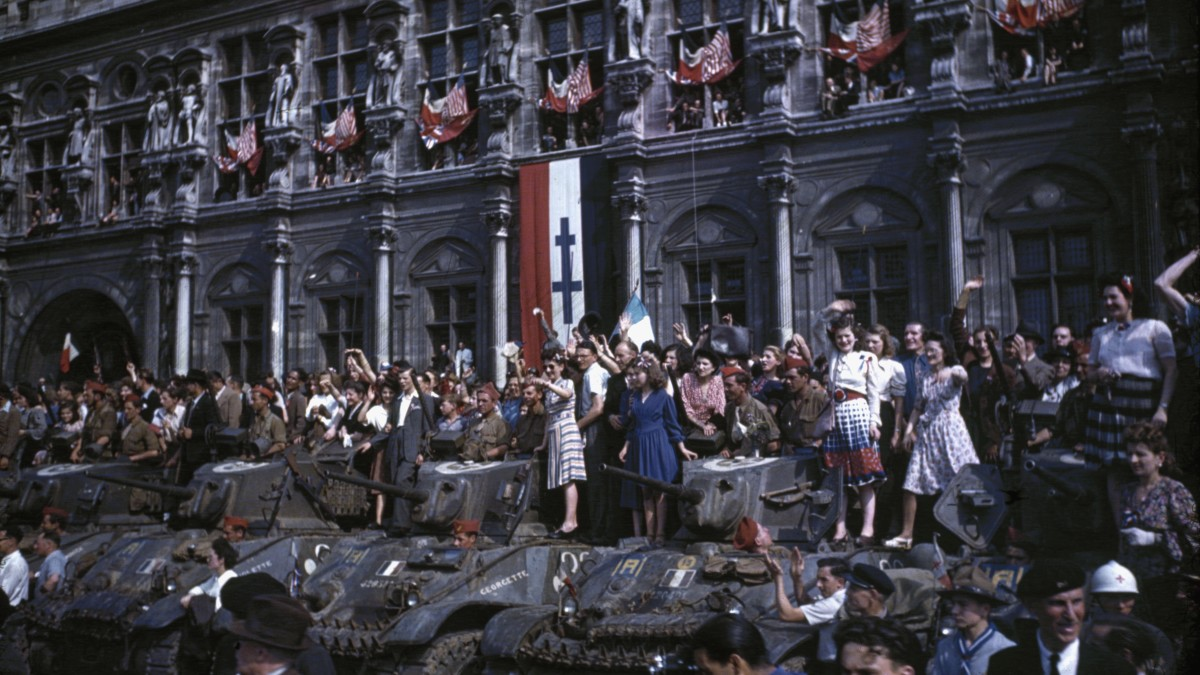 Paris is liberated after four years of Nazi occupation