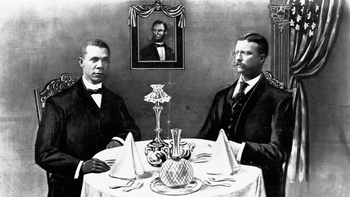 Booker T. Washington with Teddy Roosevelt