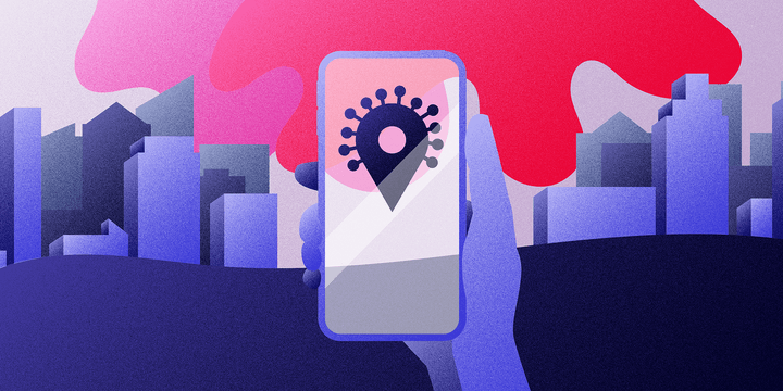 Contact Tracing app illustration