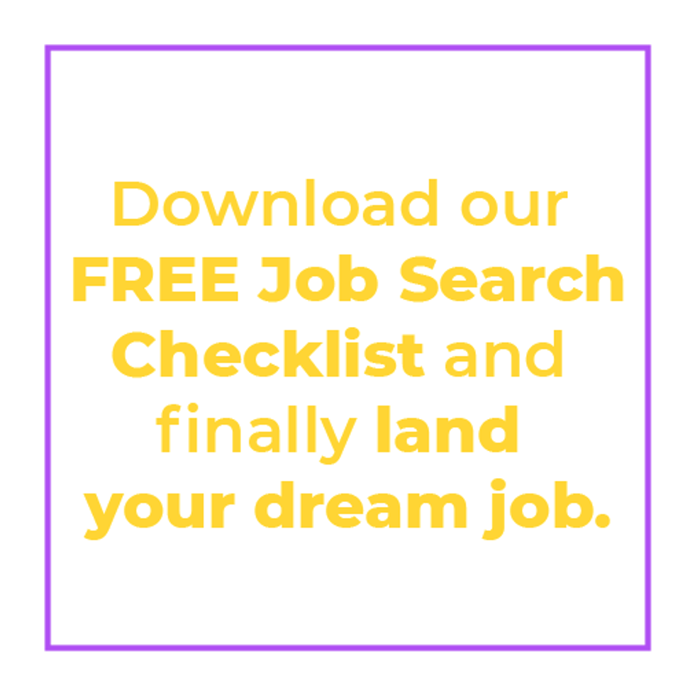 Download Work It Daily's free job search checklist