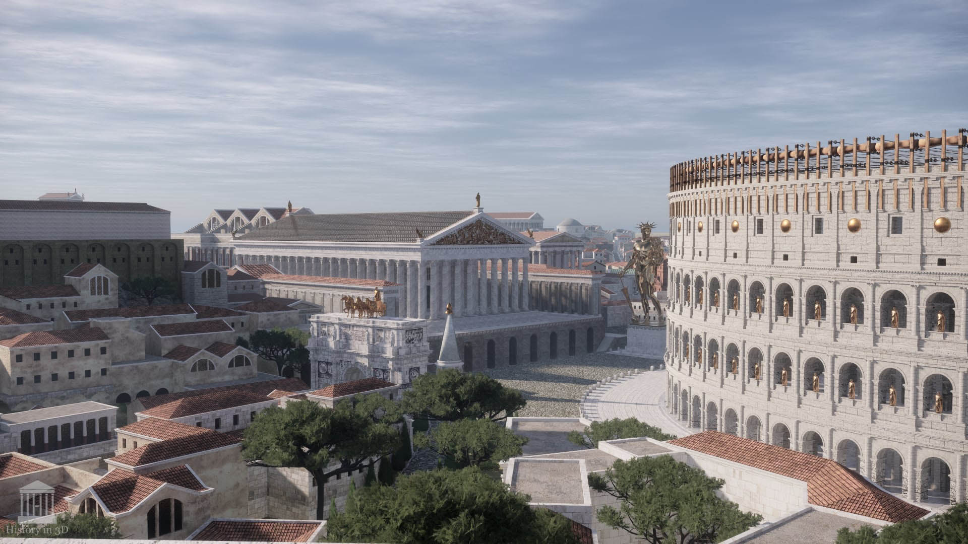 Ancient Rome Brought Back to Life in 3D