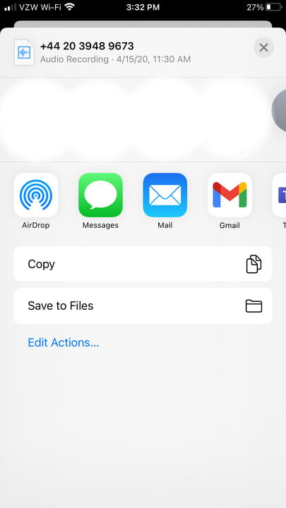 Image of iPhone Sharing Options