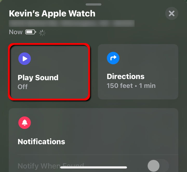 Apple Watch Play Sound