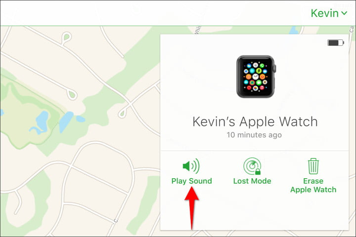 Apple Watch iCloud Play Sound