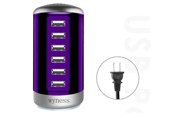 Wyness 6 Ports Desktop Charging Station