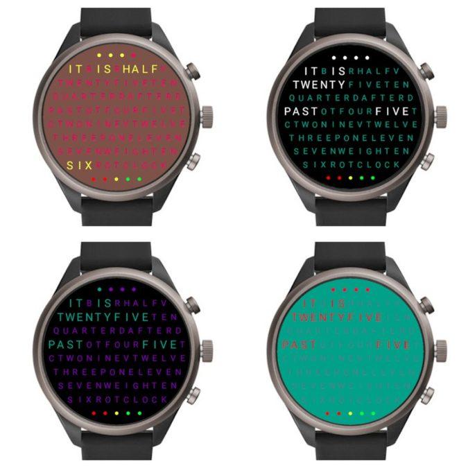 word clock watch face wear os watch faces