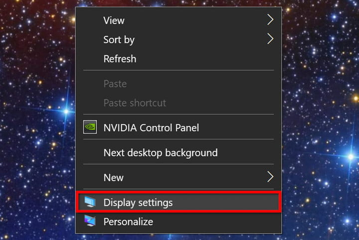 Windows 10 Right Click Display Settings