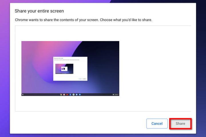 Chrome OS Chromecast Share Entire Screen