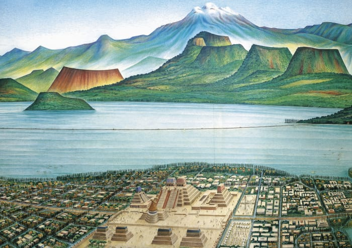 Tenochtitlan, the ancient capital of the Aztec Empire, Mexico