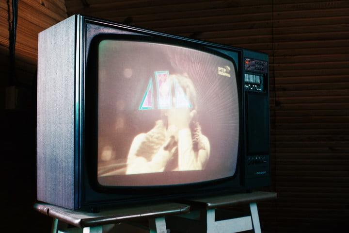 Tube TV screen