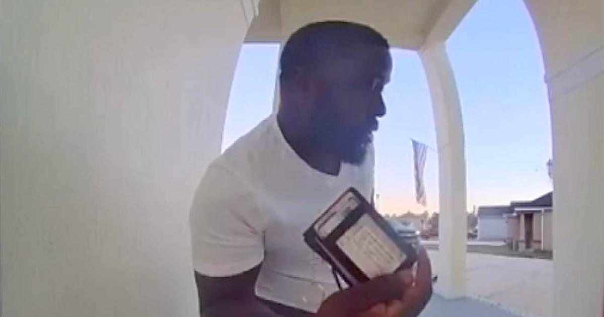 Doorbell video captures moment good Samaritan returns lost wallet in Florida