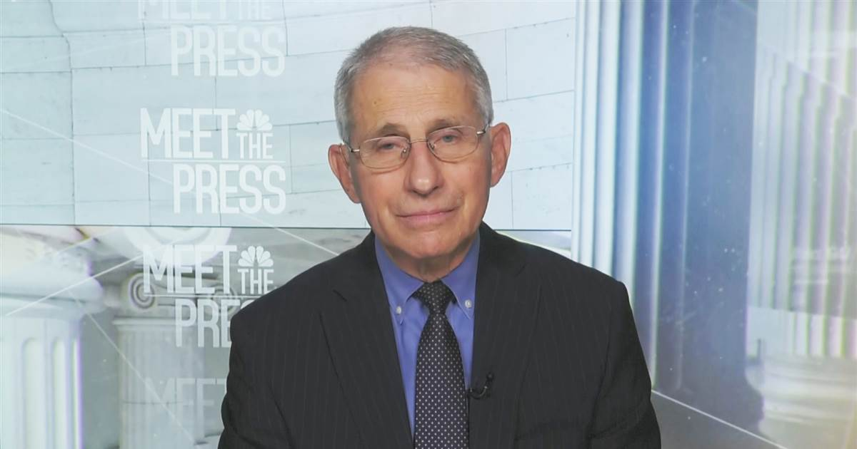 Fauci urges Americans to take the vaccine available to them when eligible
