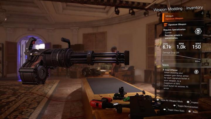 Division 2 Minigun