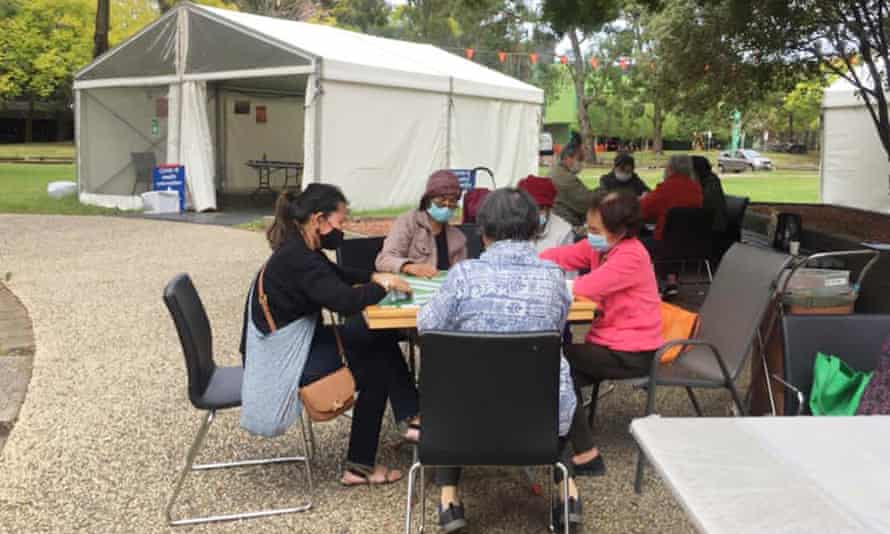 North Richmond residents at a community vaccine centre