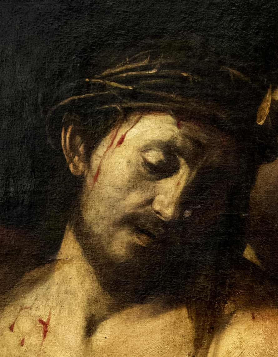 Detail of the presumed Caravaggio in Madrid