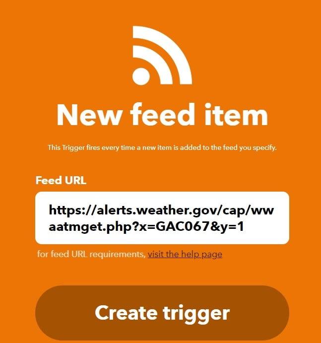 weather alerts smartest use smart lights ifttt rss feed