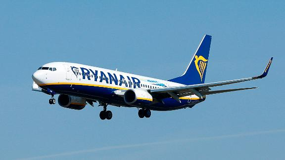 Ryanair is the biggest among the EU's greenhouse gas emitters, according to EU data.  Anchorage in the power rankings include manufacturing plants and aviation.