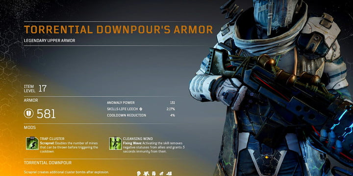 Outriders - Legendary Armor Downpour