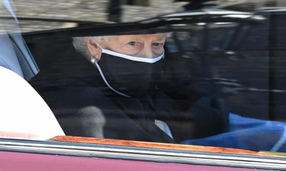 The Queen on her way to the service.