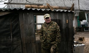 A Ukrainian soldier who goes by the nom de guerre Kaba