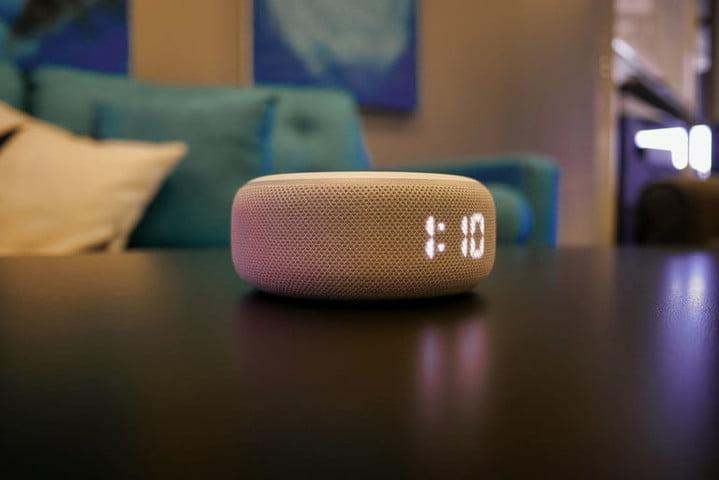 Amazon Echo Dot 3rd Gen Clock side