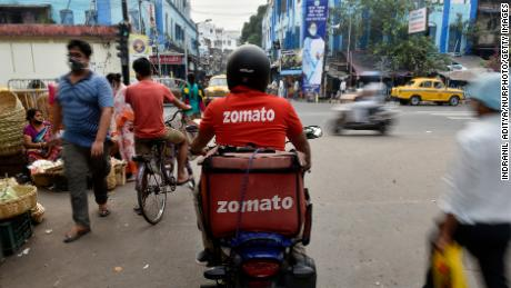 A portion of the cavalry to pass through the way of the Zomato remains in Kolkata, India.