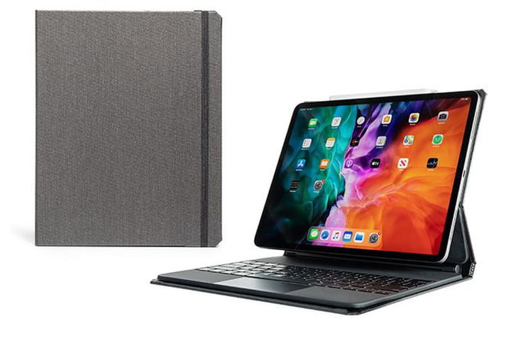 Pad & Quill Copertina Magic Case for iPad Pro 12.9 (2021) in Linen Gray