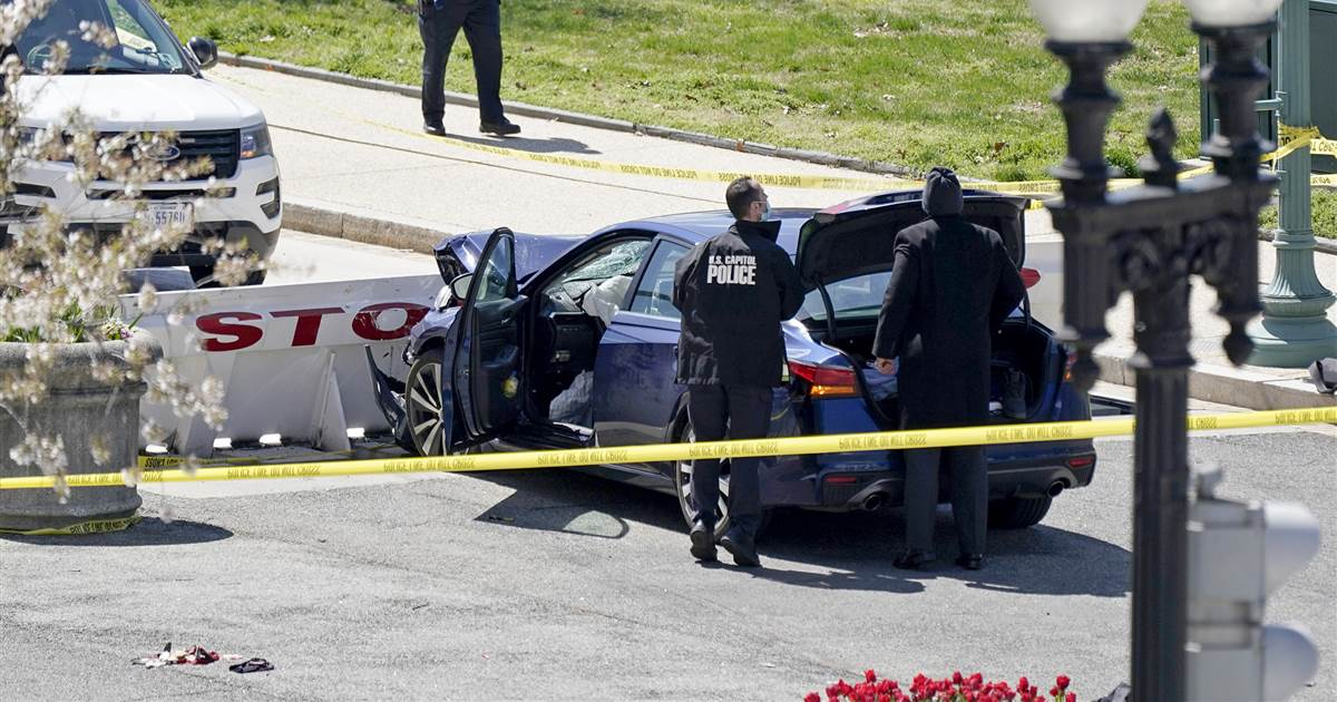 U.S. Capitol Police officer dies after attacker rammed car into checkpoint; suspect also dead