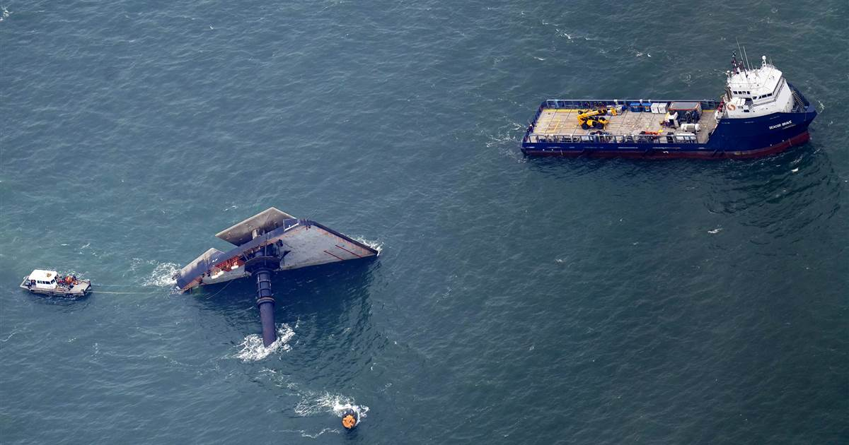 Coast Guard suspending search for remaining crew members of capsized Louisiana ship