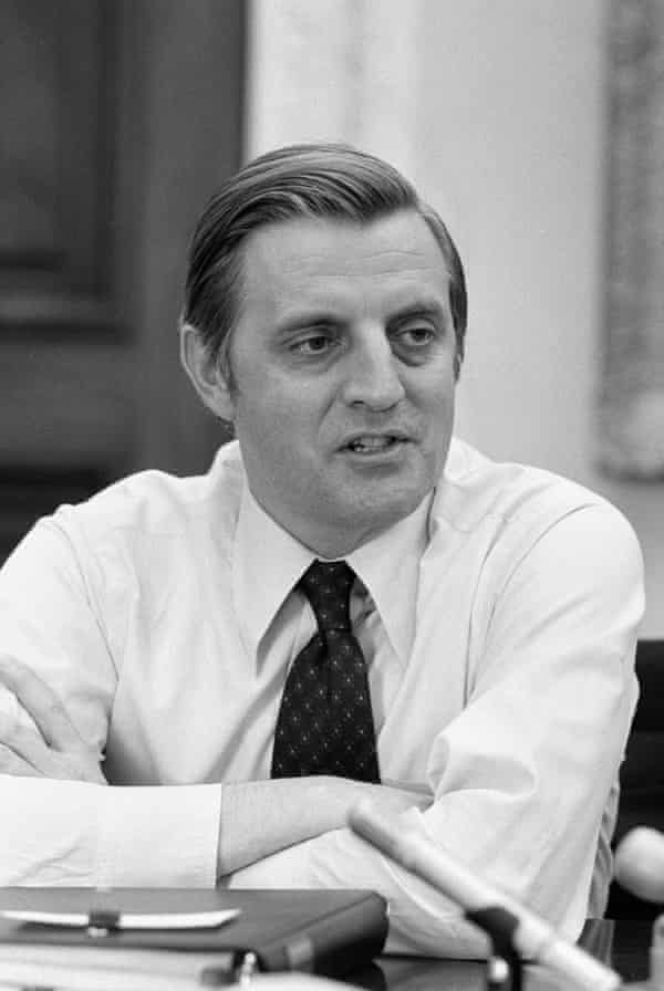 Walter Mondale in 1977 while serving as vice-president.