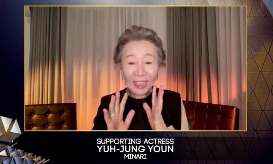 Youn Yuh-jung at the Baftas.