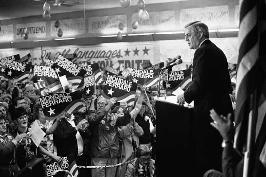 Walter Mondale on the campaign trail in 1984.