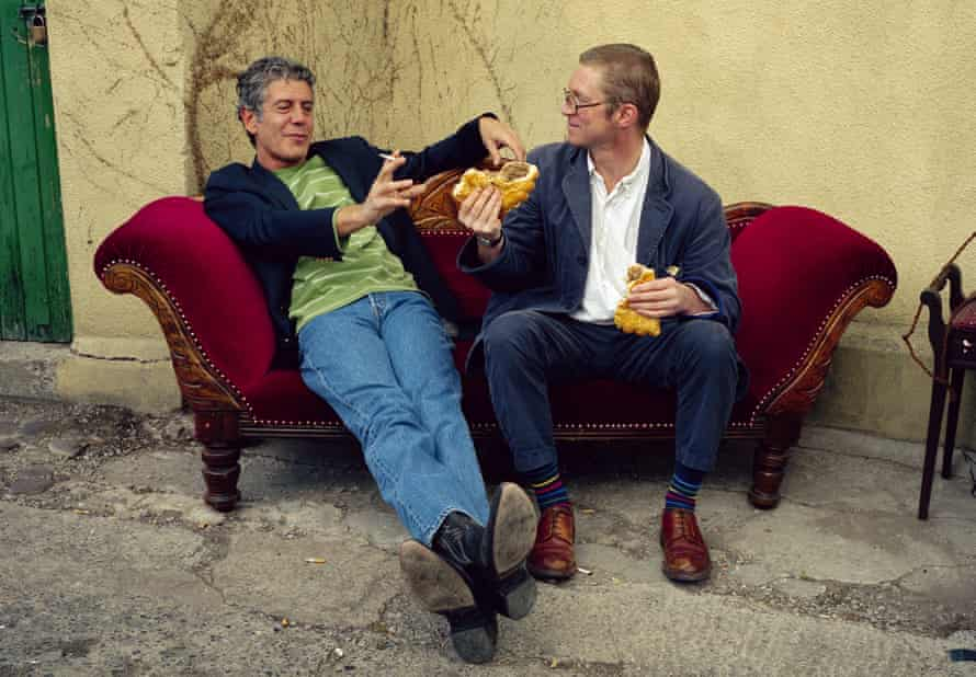 Anthony Bourdain with Fergus Henderson at the Abergavenny Food Festival in 2005