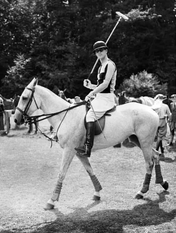 Prince Philip playing polo in the 1950s