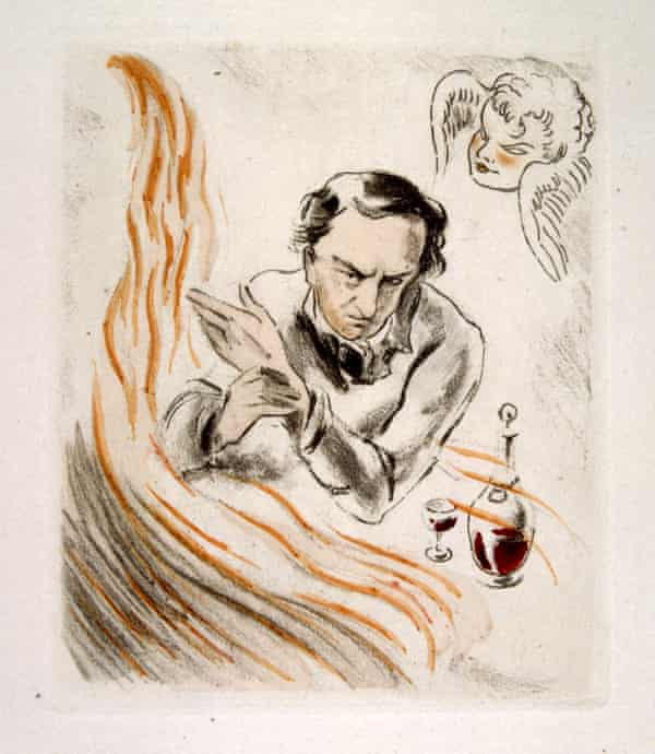 Illustration drawn in 1907 by Raoul Serres for the poem Wine (from Les Fleurs du Mal) by Charles Baudelaire.