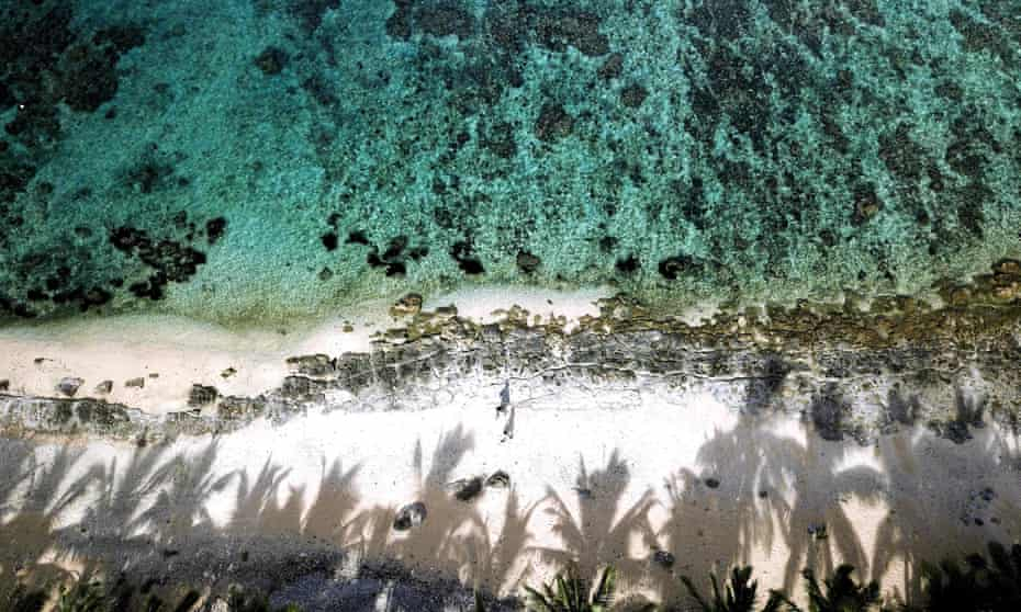 An aerial view of the Fiji's Coral Coast taken in December 2020 after nearly a year of the coronavirus-induced shutdown of Fiji's tourist sector.
