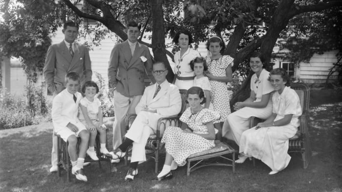 The Kennedy family, c.  1930s