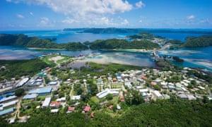 Palau's largest city, Koror