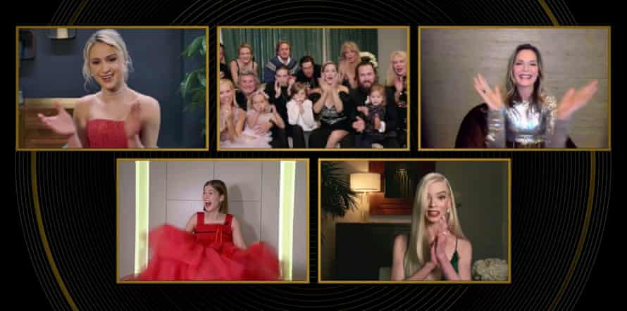 The Golden Globe nominees for best comedy or musical actress during the virtual ceremony in February
