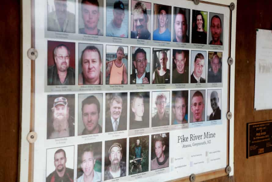 Pike River Community Prepares For Mine Re-Entry Process To BeginGREYMOUTH, NEW ZEALAND - MAY 02: Photos of the 29 deceased miners are shown on display at the public memorial on the access road to the Pike River Mine on May 02, 2019 in Greymouth, New Zealand. 29 men were trapped and killed underground at the Pike River Mine following an explosion on 19 November 2010. The bodies of the men have to date not been recovered. The re-entry process to recover the men will begin tomorrow. (Photo by Phil Walter/Getty Images)