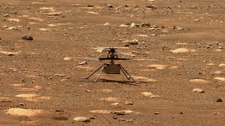 NASA's Ingenuity helicopter unlocked its rotor blades, allowing them to spin freely, on April 7, 2021, the 47th Martian day, or sol, of the mission.